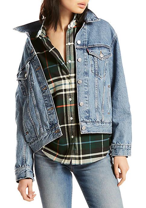 Levi's® Ex-Boyfriend Trucker Jacket Concrete Indigo