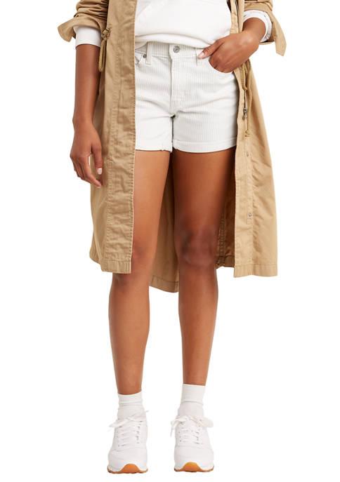 Soft Annemarie Stripe Mid Length Shorts