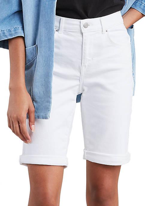 Levi's® White Jasmine Bermuda Shorts