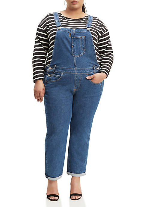 Plus Size Full Hand Overalls