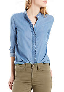 Katya Ruffle Shirt