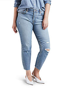 Plus Size Wedgie Blue Spice Jeans