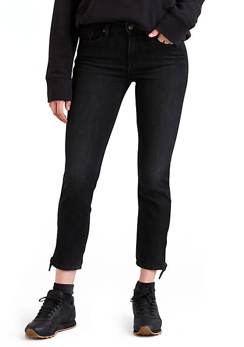 Levi's® Mid Rise Skinny Jeans with Knot Hem