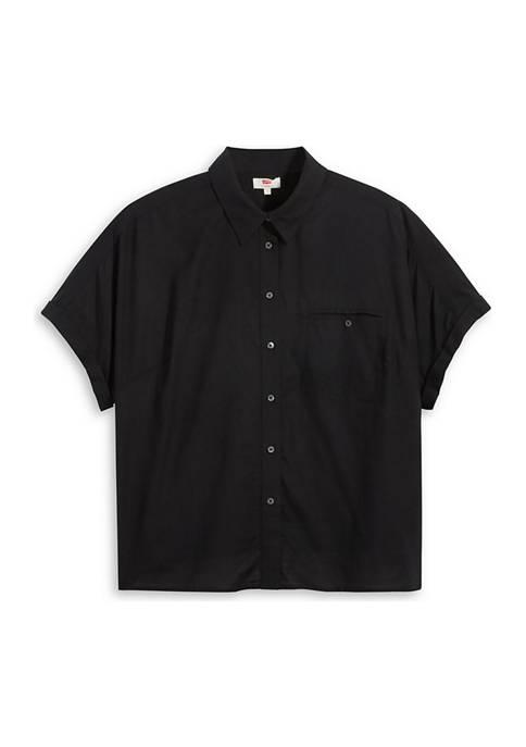 Plus Size Ariana Boxy Button Up Shirt