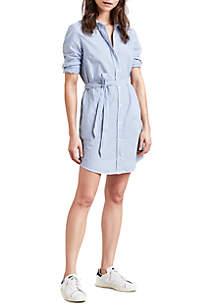 Mallory Long Sleeve Striped Shirt Dress