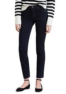 Classic Mid Rise Skinny Jeans Deep Indigo