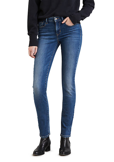 Classic Mid Rise Skinny Jeans Blue Show Tune