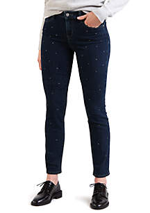 Mid Rise Skinny Going Out Glitz Jeans