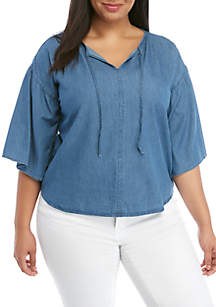 Levi's® Plus Size Pleated Meadow Top