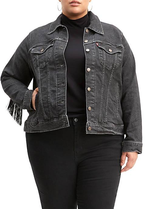 Plus Size Ex Boyfriend Trucker Jacket