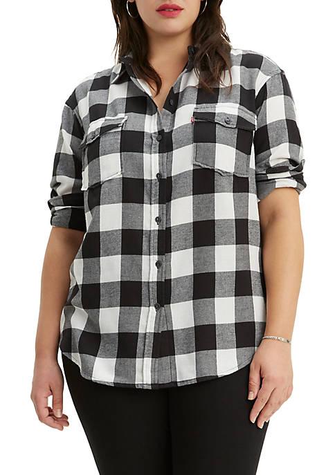 Levi's® Plus Size Check Autumn Button Front Shirt
