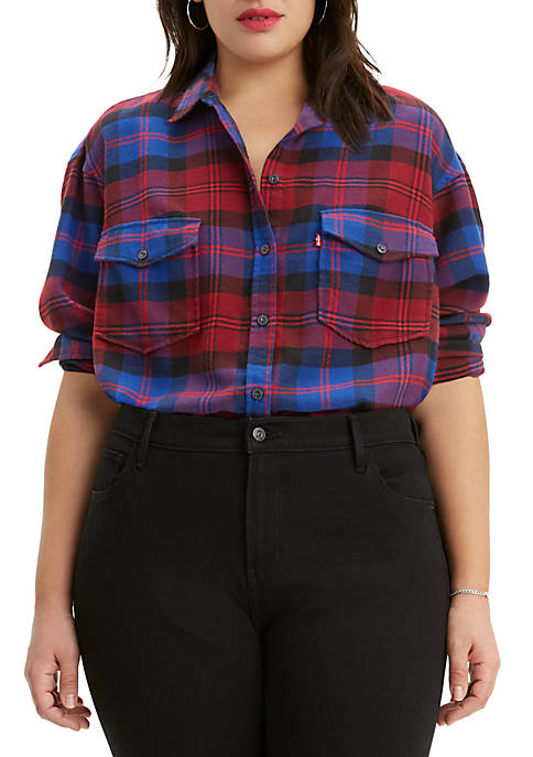 Levi's® Plus Size Natalie Plaid Shirt