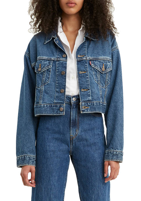 Levi's® Cropped Dad Trucker Jacket