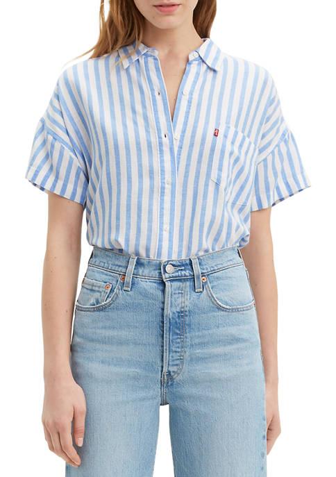 Levi's® Womens Alexandria Short Sleeve Stripe Shirt