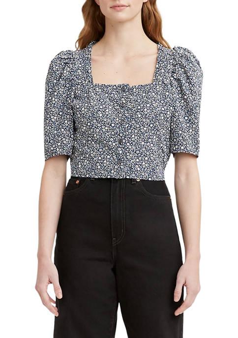 Womens Joella Short Sleeve Blouse