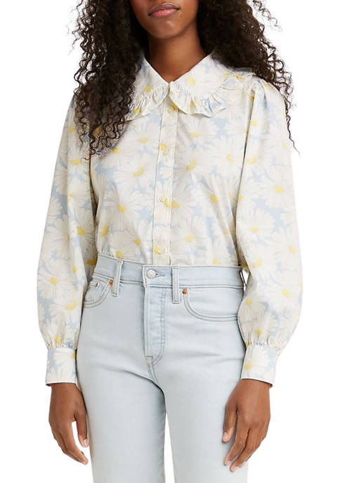 Levi's® Womens Karina Collar Blouse