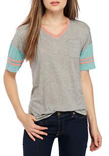 Short Sleeve Burnout Varsity Tee