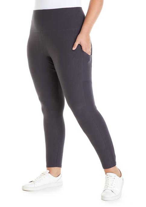 Plus Size Soft Shop Pull On Pocket Leggings