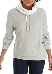 Sherpa Lined Cowl Sweatshirt