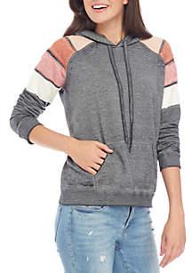 Stripe Hooded Sweatshirt