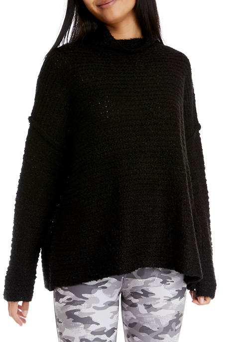 Long Sleeve Funnel Neck Tunic Sweater