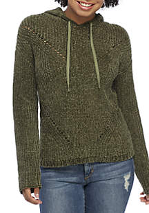 Chenille Hoodie Sweater