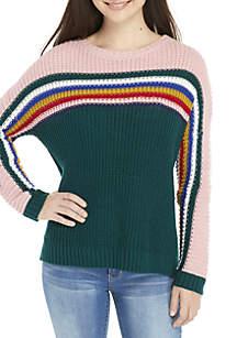 High-Low Crew Neck Sweater
