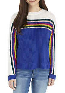 High-Low Crew Neck Sweater