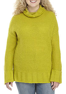 TRUE CRAFT Plus Size Cowlneck Tunic