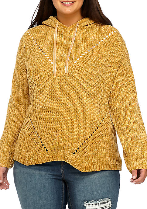 Plus Size Chenille Hoodie