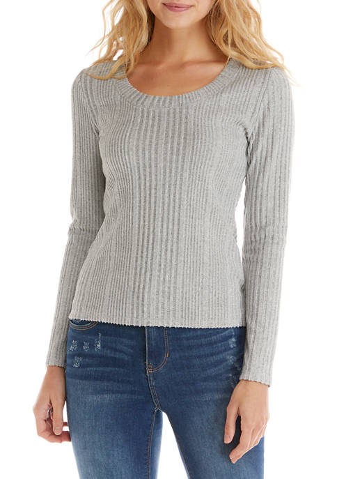 Derek Heart Juniors Brushed Ribbed Top