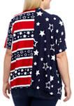 Plus Size American Flag Kimono