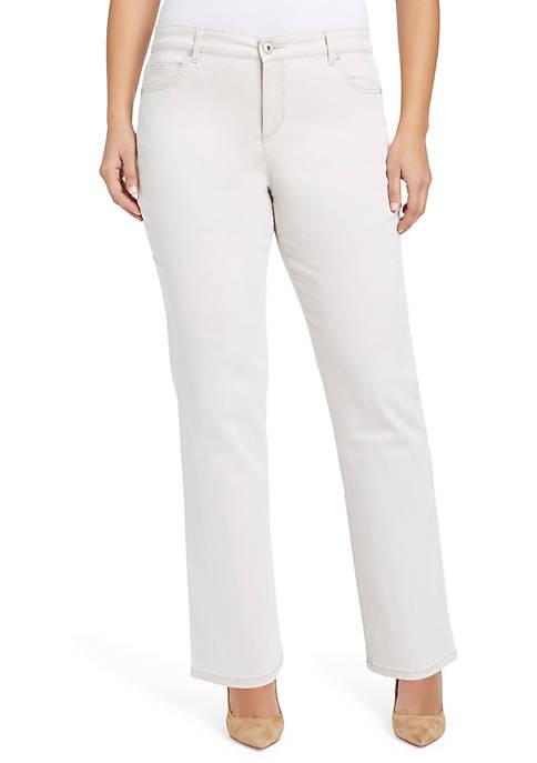 Bandolino Plus Size Mandie Twill Jeans (Short)