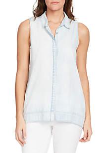 Kinley Sleeveless Denim Shirt