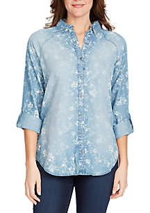 Steffie Swirl Bouquet Printed Shirt