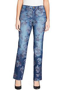 Petite Mandie Printed Average Jean