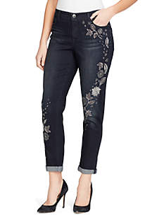 Karyn Embroidered Denim Pants