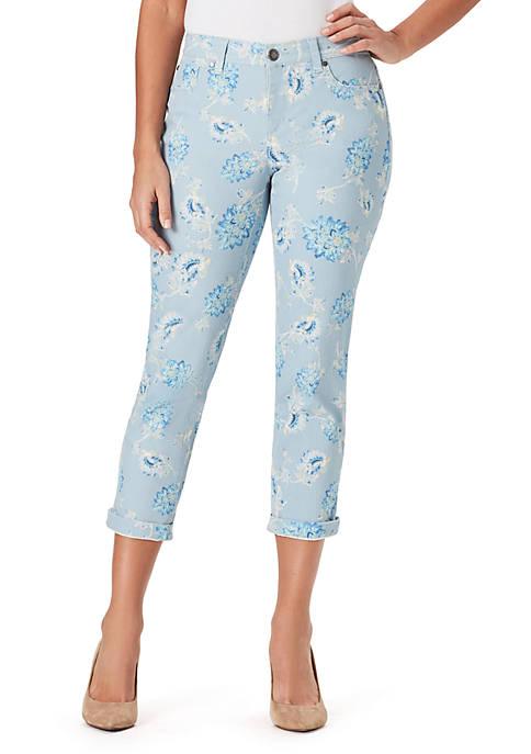 Bandolino Lisbeth Jacobean Garden Cropped Jeans