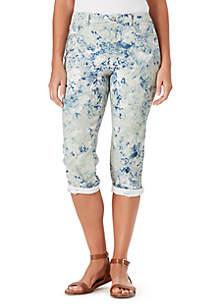 Bandolino Karyn Boyfriend Floral Crop Pants