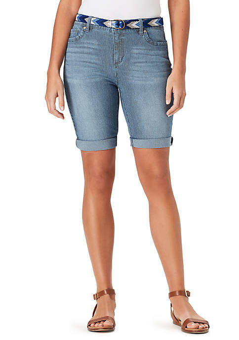 Bandolino Riley Bermuda Railroad Shorts
