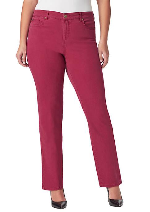 Bandolino Plus Size Mandie Straight Average Jeans