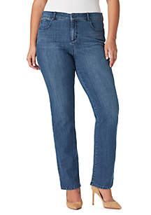 Plus Size Mandie Straight Average Jeans