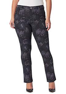 Plus Size Mandie Slim Bouquet Average Jeans