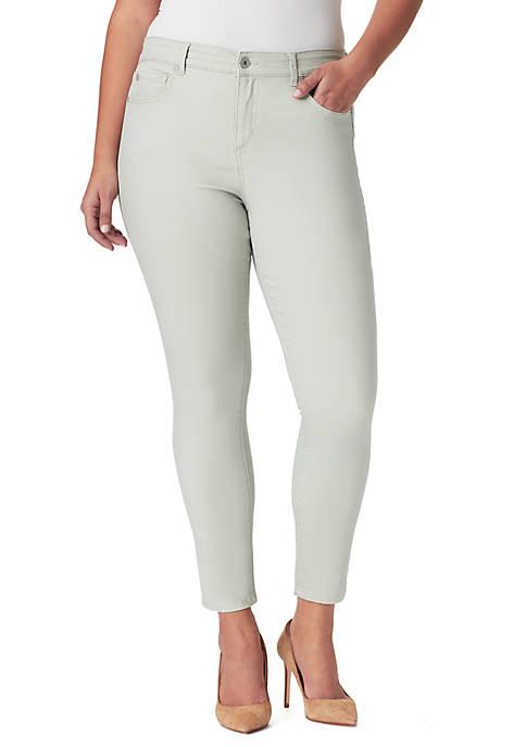 Bandolino Plus Size Mandie Slim Cropped Pants