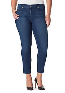 7d944965674c9 ... Bandolino Plus Size Mandie Slim Crop Jeans