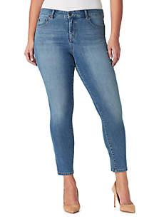 Bandolino Plus Size Mandie Slim Crop Jeans