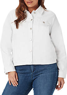 Plus Size Classic Jacket with Lace Up Details