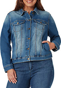 523d1292dc3 ... Bandolino Plus Size Classic Jacket with Lace Up Details
