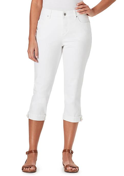 Bandolino Petite Mandie Side Lace Capri Pants