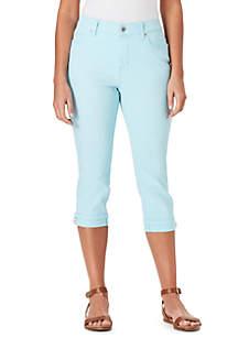 054215dfb ... Bandolino Petite Mandie Side Lace Capri Pants